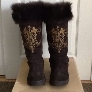 J Crew Sherling Alpine Embroidered Winter Boots